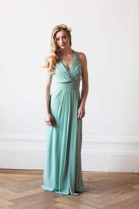 Matchimony Floor Length Halterneck Bridesmaid Or Prom Dress