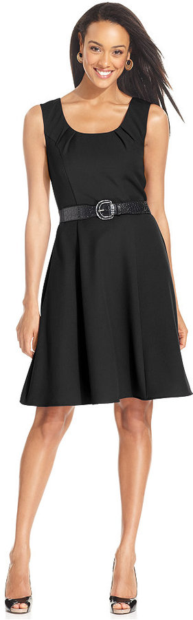 Amy Byer Sleeveless Belted A-line Dress