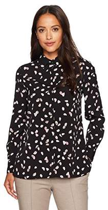 Ellen Tracy Women's Size Printed Boyfriend Shirt