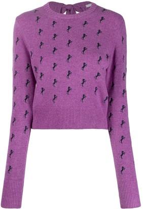 Chloé horse pattern jumper
