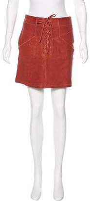 A.L.C. Leather Lace-Up Skirt w/ Tags
