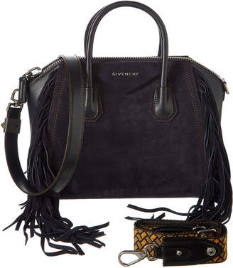 Givenchy Antigona Small Fringed Suede Satchel