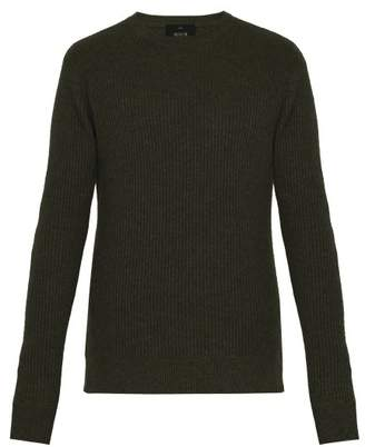 Allude Ribbed Cashmere Sweater - Mens - Khaki