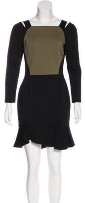 Emilio Pucci Silk & Leather-Trimmed Dress