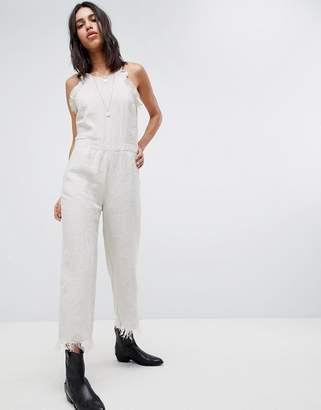 Blank NYC festival Crop Linen Jumpsuit