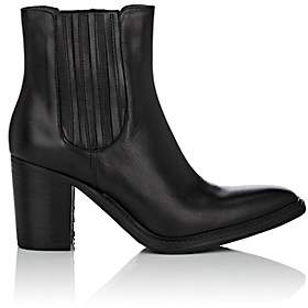 Barneys New York WOMEN'S LEATHER CHELSEA BOOTS-BLACK SIZE 5