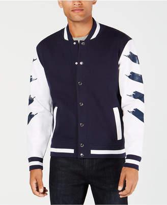 INC International Concepts I.n.c. Men's Strokes Varsity Jacket, Created for Macy's