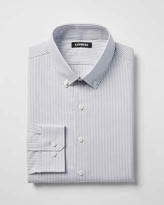 Express Classic Striped Button-Collar Dress Shirt