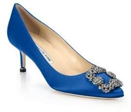 Manolo Blahnik Hangisi 50 Satin Pumps