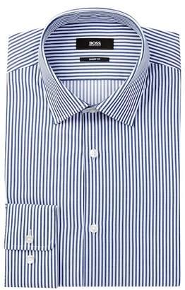 BOSS Marley Long Sleeve Sharp Fit Stripe Dress Shirt