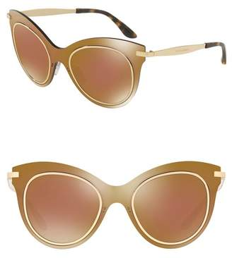 Dolce & Gabbana Metal 51mm Cat Eye Mirror Sunglasses