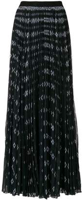 Marcelo Burlon County of Milan printed pleated maxi skirt