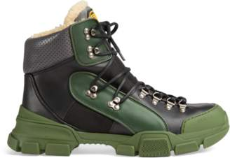 8f62a4bd797 Gucci Flashtrek high-top sneaker with wool