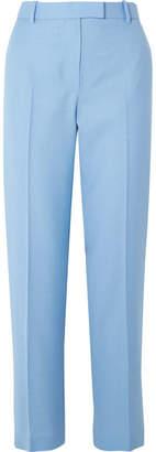 The Row Lada Grain De Poudre Wool Straight-leg Pants - Light blue