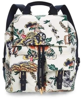 Tory Burch Tilda Print Nylon Flap Backpack