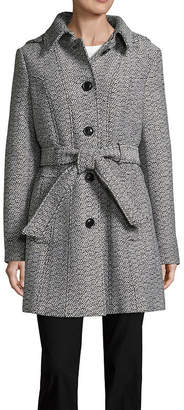 Liz Claiborne Midweight Belted Peacoat-Tall