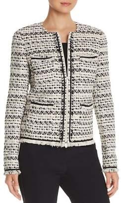 Lafayette 148 New York Benji Tweed Zip-Front Jacket