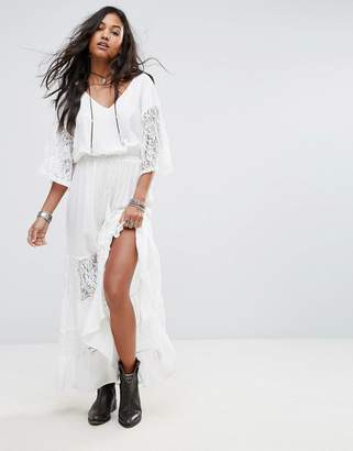 Boohoo Lace Panelled Maxi Dress $44 thestylecure.com