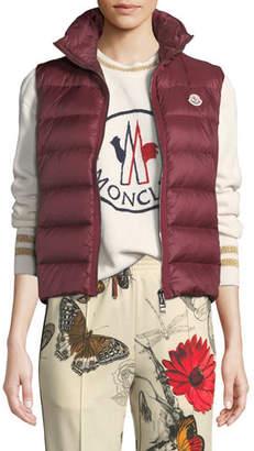 Moncler Knit-Back Down Puffer Vest