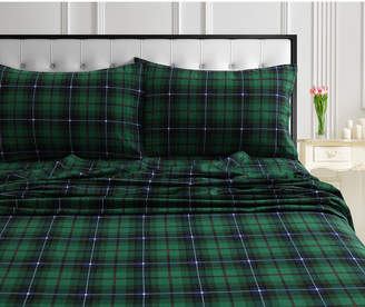 Cambridge Silversmiths Marwah Corporation/tribeca Living Plaid 170-Gsm Cotton Flannel Printed Printed King Pillow Pair