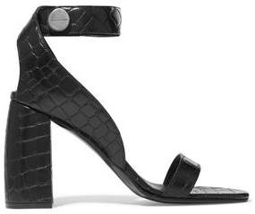 Stella McCartney Croc-Effect Faux Leather Sandals