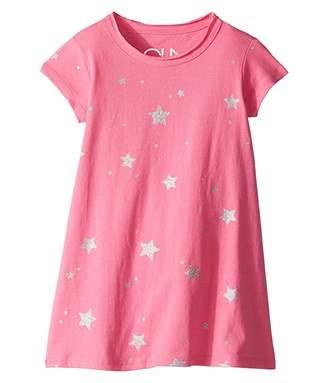 Chaser Super Soft Cotton Jersey Short Sleeve Shirtdress (Toddler/Little Kids)