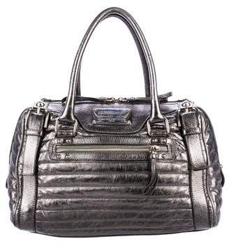 Dolce & Gabbana Metallic Quilted Leather Handle Bag