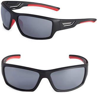 Izod 67mm Cutout Sport Wrap Sunglasses