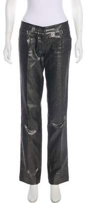 Dolce & Gabbana Mid-Rise Metallic Jeans