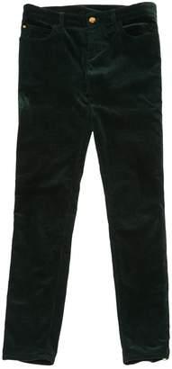 Louis Vuitton Green Velvet Trousers
