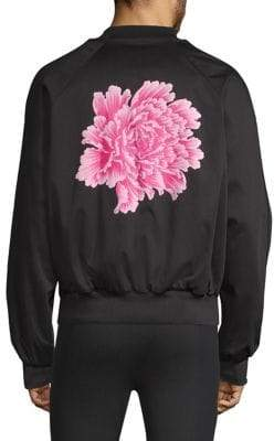 Y-3 Reversible Sateen Flower Bomber Jacket