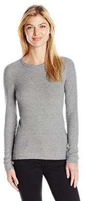 Three Dots Women's Long Sleeve Crew Brushed Sweater
