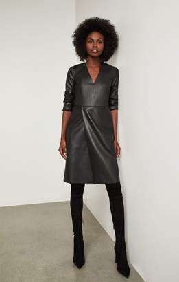 BCBGMAXAZRIA Faux-Leather Shift Dress