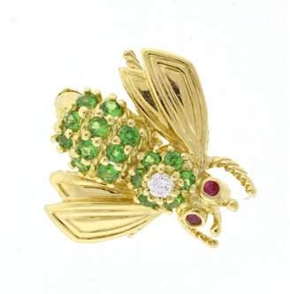 Tiffany & Co. 18K Yellow Gold Tsavorite Bee Pin