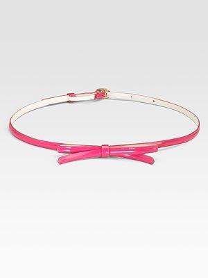 Skinny Patent Bow Belt