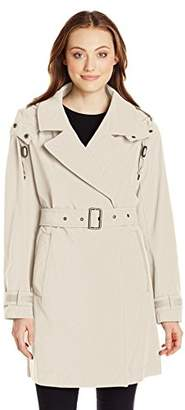 Marc New York by Andrew Marc Women's Mid-Length Belted Trench with Hood $26.32 thestylecure.com