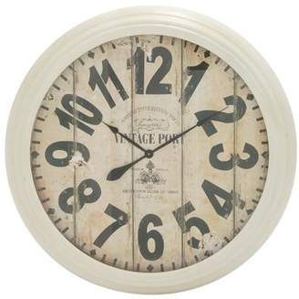 Benzara Appealing And Antique Styled Metal Wall Clock
