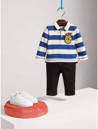 Burberry Icons Motif Cotton Rugby Shirt