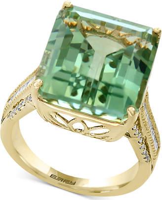 Effy Prasiolite (16 ct. t.w.) & Diamond (1/3 ct. t.w.) in 14k Gold