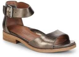 Gentle Souls Gracey Metallic Ankle-Strap Sandals