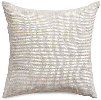 Hotel Collection Square Basketweave Linen Cushion