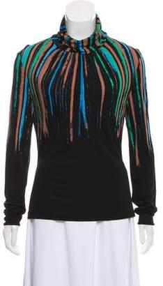 Versace Printed Turtleneck Sweater