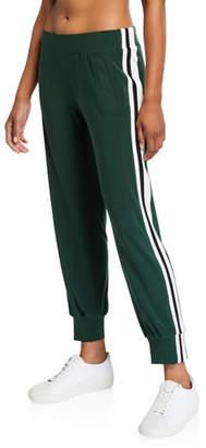Norma Kamali Side Striped Jogger Pants