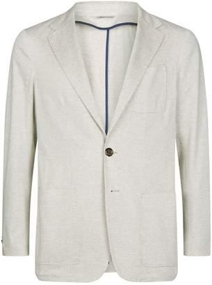 Canali Cotton Herringbone Jacket