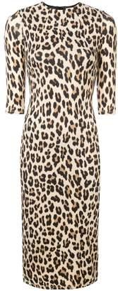 Alice + Olivia Alice+Olivia leopard print mid-length dress