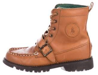 Polo Ralph Lauren Boys' Leather High-Top Boots
