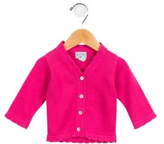 Papo d'Anjo Girls' Scalloped Button-Up Cardigan