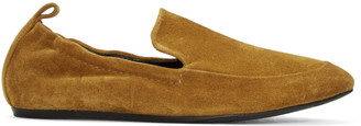 Lanvin Tan Suede Classic Loafers $550 thestylecure.com