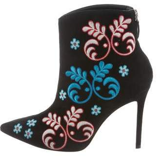 Isa Tapia Alondra Embroidered Ankle Boots w/ Tags