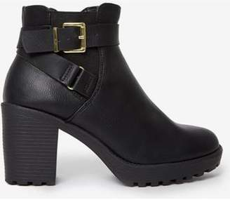Dorothy Perkins Womens Black 'Mindy' Heeled Ankle Boots